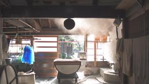 和釜の蒸気