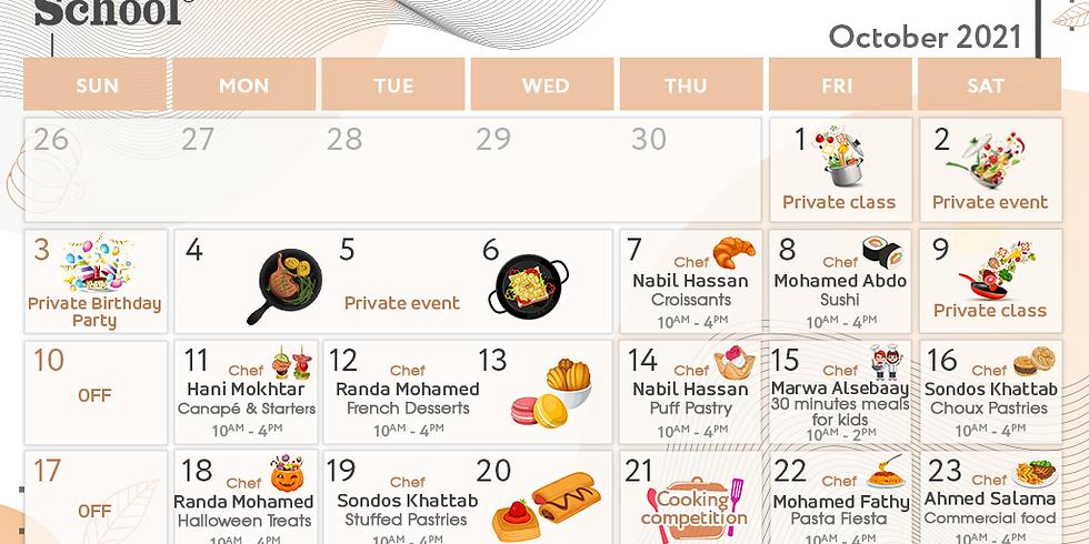 October schedule
