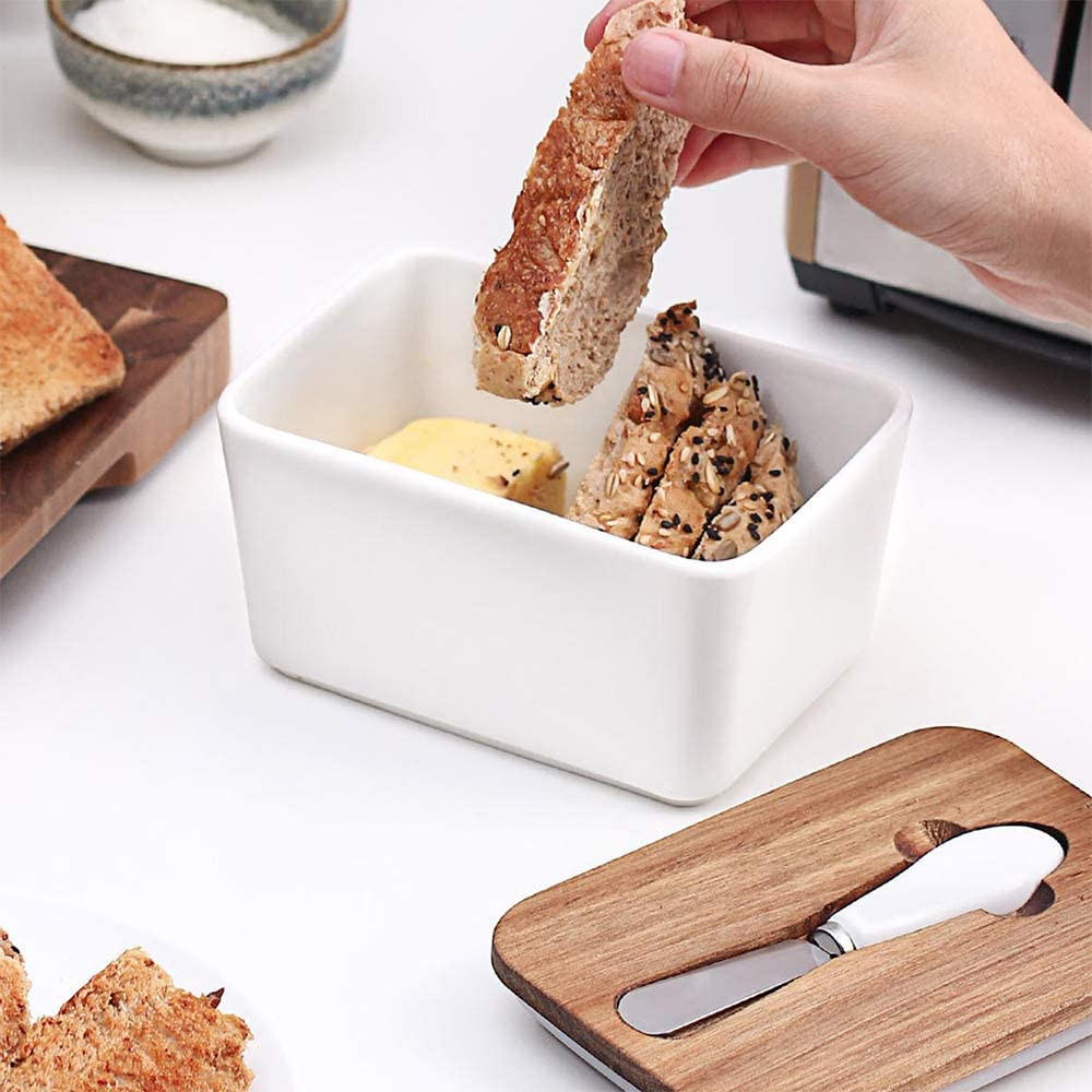 Butter Dish container with knife, gifts for mom