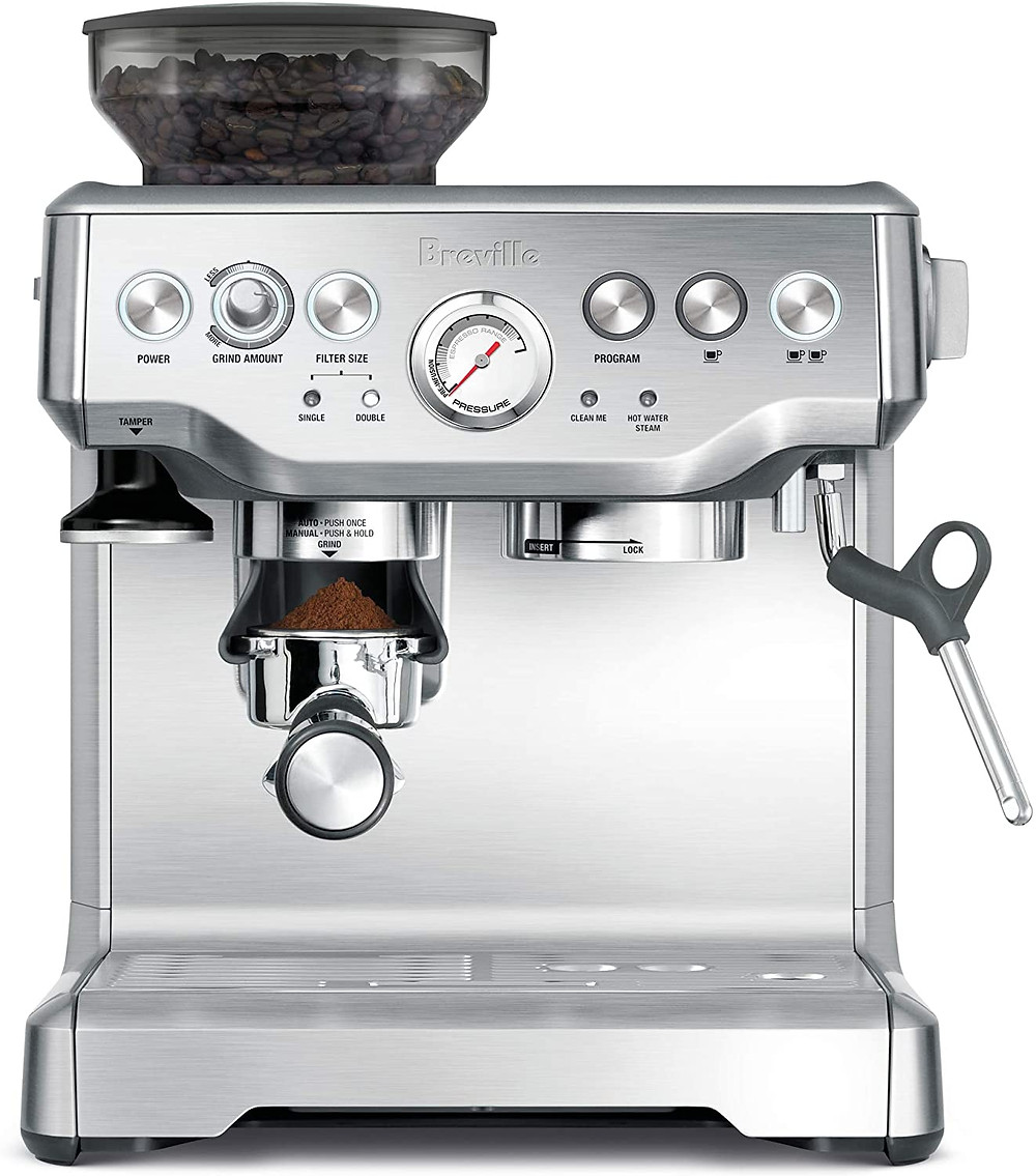 silver coffee machine, gifts for mom