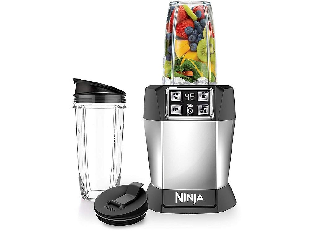 ninja fruit Nutri 1000 Watt Auto-IQ blender, silver, gifts for mom