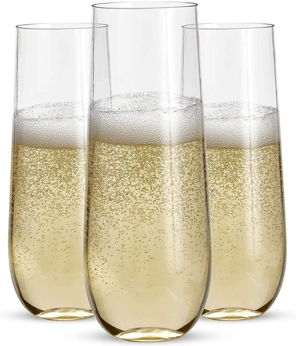 Champagne plastic glasses, gifts for mom