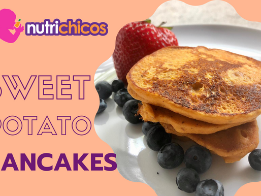 Sweet Potato Pancakes - A twist on a classic kid's favorite breakfast!