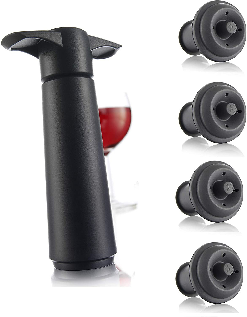 Wine saver pump, bottle stoppers, gifts for moms