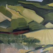 Close to home-looking down from the Trundle