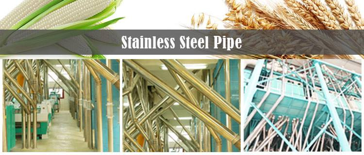 stainless steel pipes in milling machine