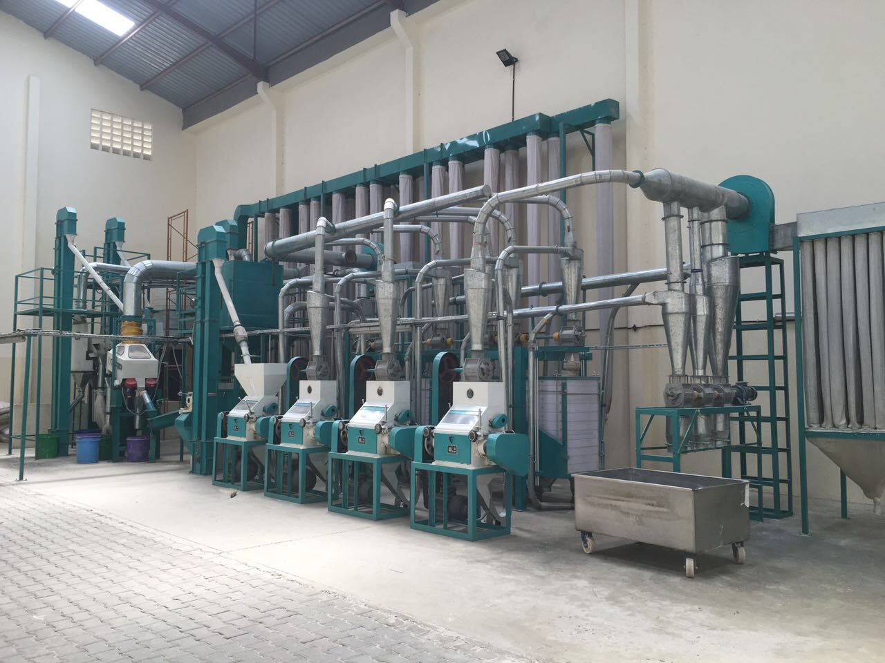 complete auto maize milling machine
