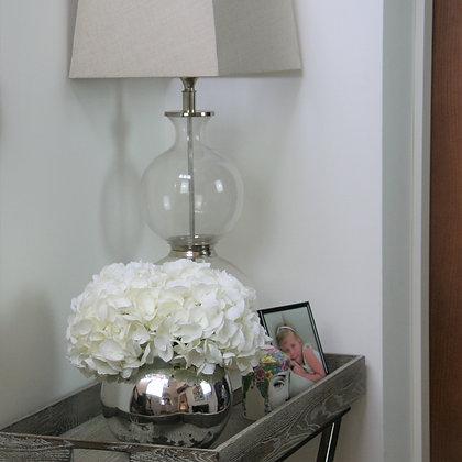 White Hydrangeas- Three Short Stems