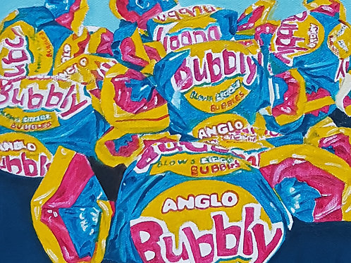 Bubbly painting A4 print