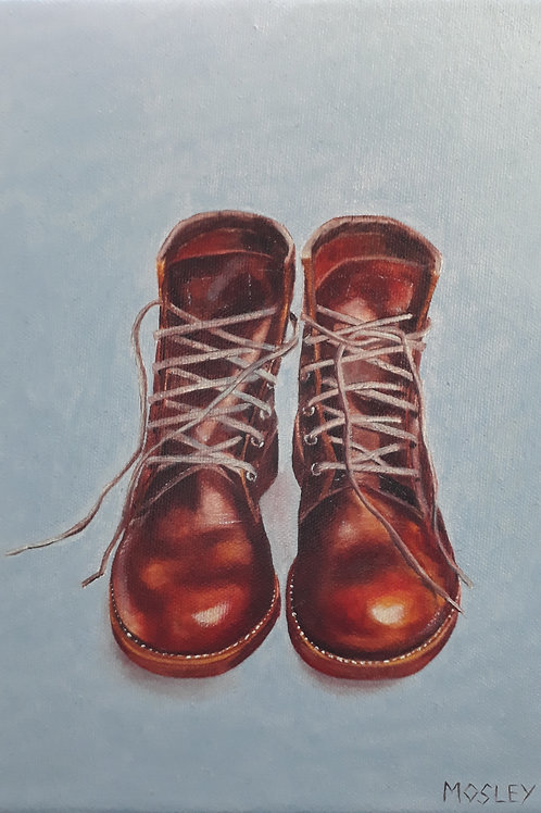 Boots painting A3 print