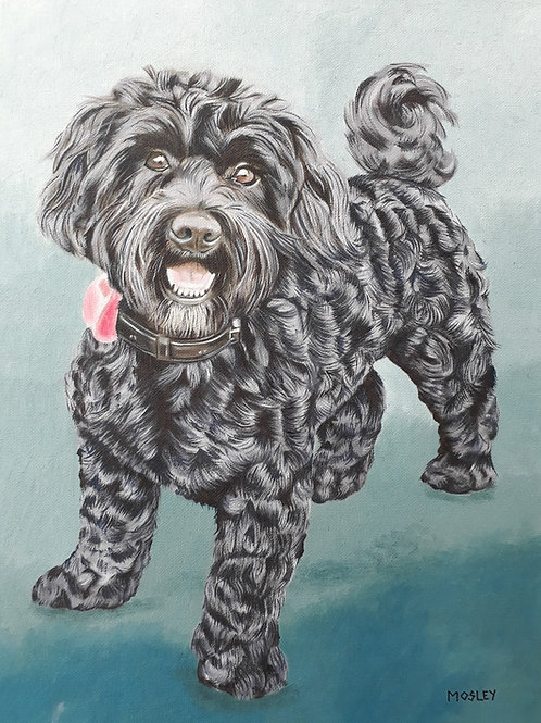 Cockapoo painting A3 print