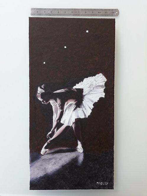 Ballerina Tying Shoe