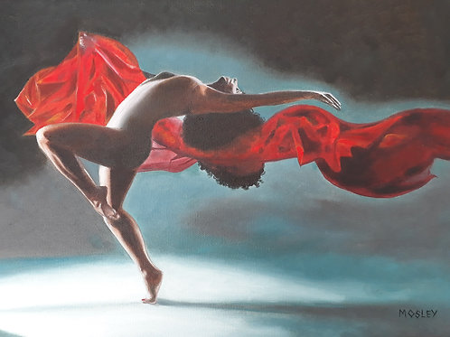 Dancer with Red Scarf A3 print