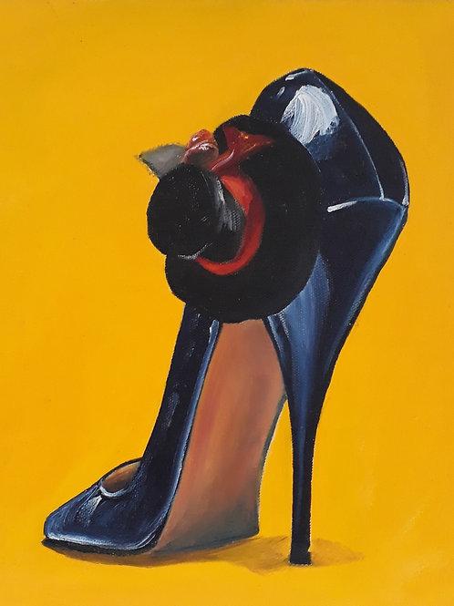 Black Stiletto A3 print