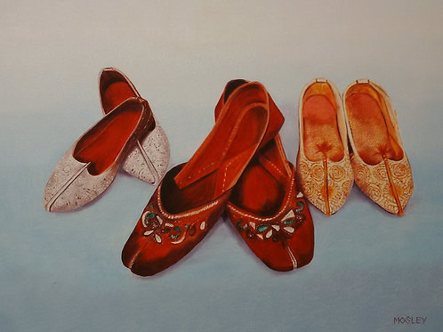 Indian Slippers painting A4 print