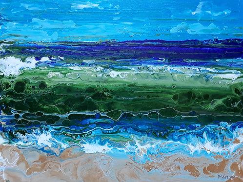 Sea Scene painting A3 print