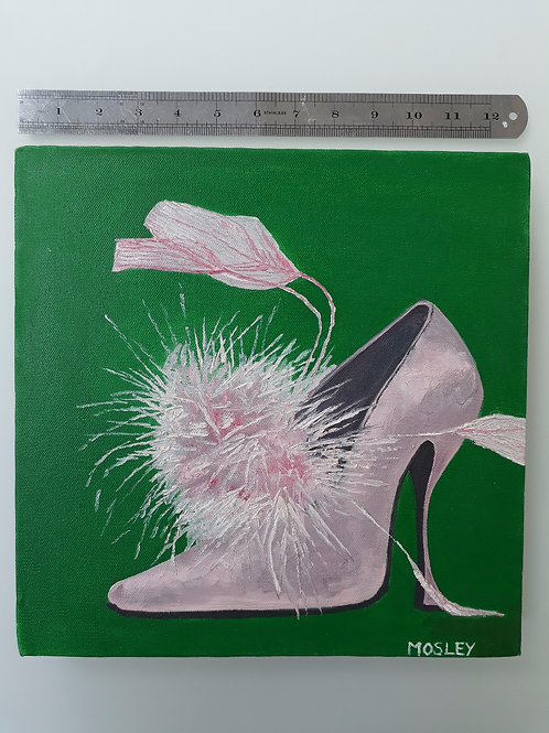 Pink Feather Shoe