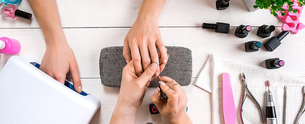 gel manicure, hard gel, pedicure