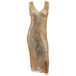 1970s Paco Rabanne Chain Link Disco Dress