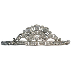 20s Silver Toned Brass Tiara Headband