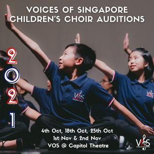 Voices of Singapore Children's Choir Auditions
