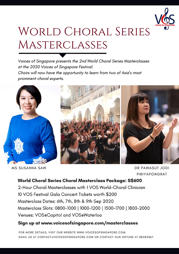 Voices of Singapore Choral Masterclasses