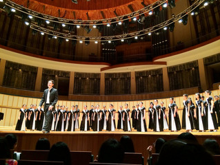 Temasek Chorale performs at the Esplanade Concert Hall