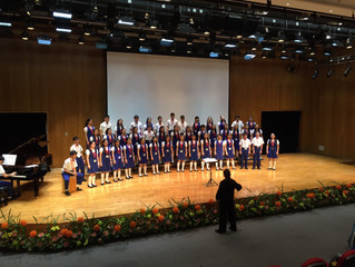 Hong Kong Children's Choir performs the Fire Dance of Luna at the World Choral Expo in Macau