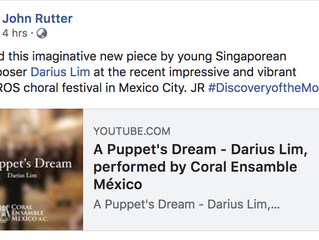 "Puppet's Dream presented as John Rutter's ""Discovery of the Month"" Series"