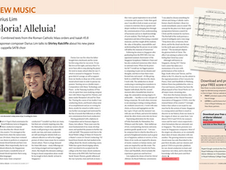 Darius Lim featured in Choir & Organ Magazine