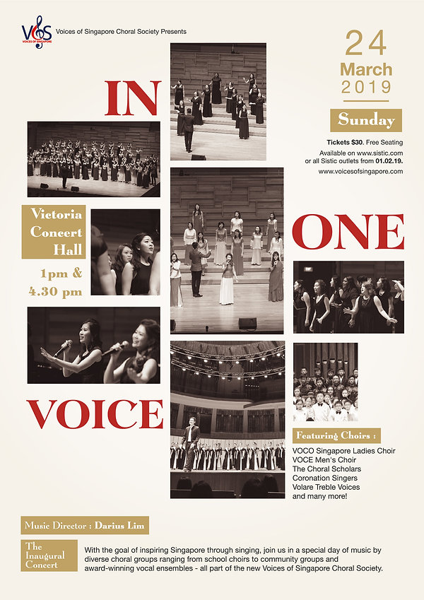 In One Voice - VOS Choral Society Debut