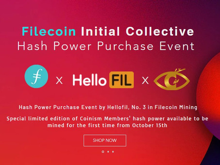 Filecoin's third largest mining company, hellofil, can pay with YOAcoin for cloud mining.