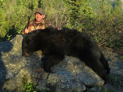 Ruger  Andres from  Arlee,  MT  with  Ruger's first black bear.