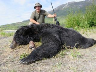 Steve  Menore from  Rockford,  IL  with Steve's nice big black bear.
