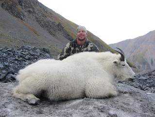 Mike Coppens with his ancient 12 year old billy. 8 5/8 x 8 4/8 x 5 4/8. We had not hunted this area for at least 15 years.