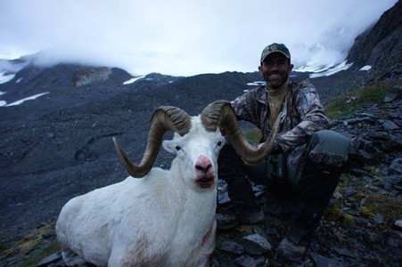 Jeff Taylor from Raleigh, NC with his buster ram, 43 0/8 X 41 4/8 X 14  3/8, official  B&C  score  170  0/8.