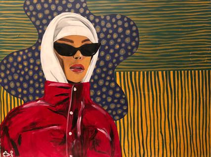 Glasses, Jacket, Painting, 2019