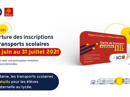 Rentrée scolaire 2021 2022 gratuité des transports scolaires et modalités d'inscription