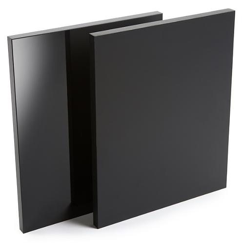 Noir  super mat  1 coté  dos noir 5/8 x 49 x 97 MDF