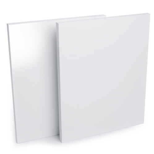 Blanc lustré 1 coté dos blanc 5/8 x 49 x97 MDF