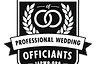 The logo for the international association of professional wedding officiants.