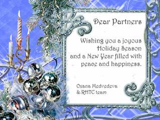 Ассоциация Медицинского Туризма России /RHTC рада поздравить Вас с Наступающим Новым Годом и Рождес