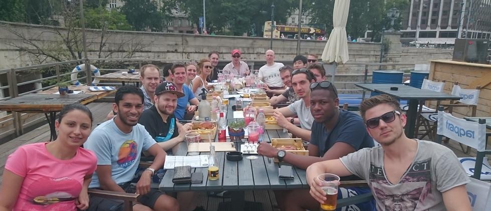Riverside drinks in Budapest