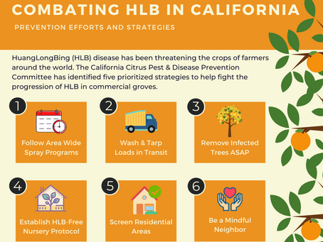 Combating HLB in California - Prevention Efforts and Strategies