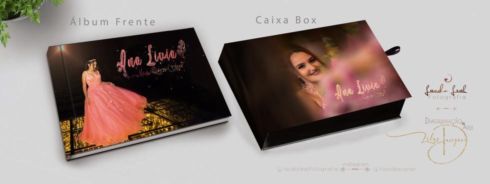Mostra album + caixa 31x23 Festa Debutante