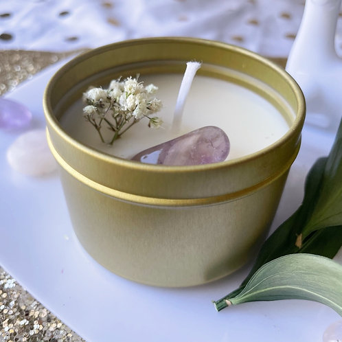 Beeswax Candle -Lavender and Vanilla 4oz