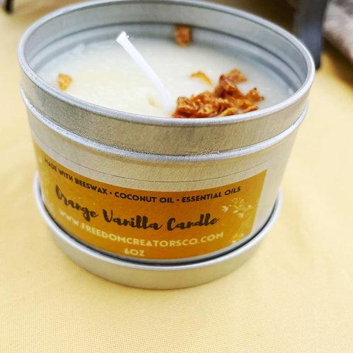 Orange Vanilla Beeswax Candle