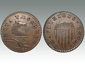 USA Post-Colonial era, New Jersey copper sold in Suffolk auction