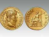 Gold aureus of the Emperor Nero, Rome Mint sold by Roman coins specialist Lockdales auction house