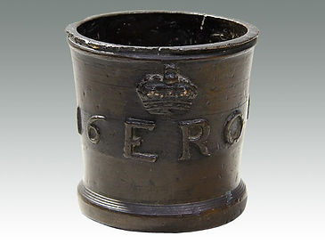 An Elizabethan bronze measuring cup sold in Suffolk auction house Lockdales